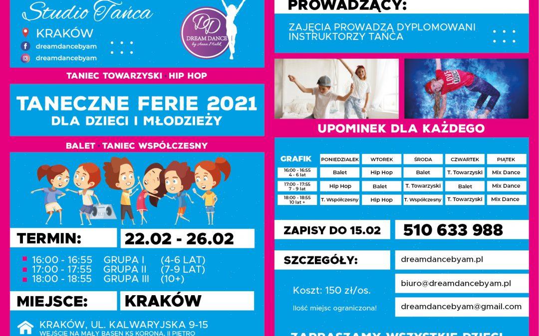 Taneczne Ferie 2021 Dla Dzieci i Młodzieży